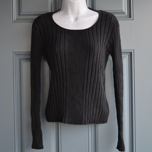 Black Silk Blend Sweater by Classiques Entier